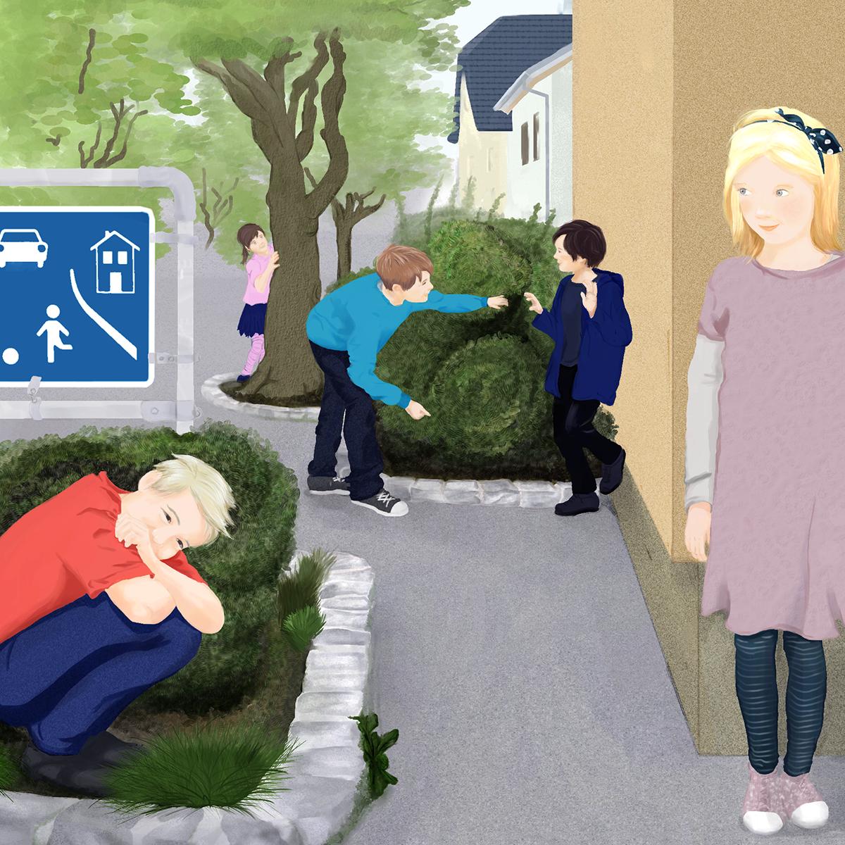 Illustration Spielstraße
